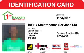 1stfix Handyman ID card