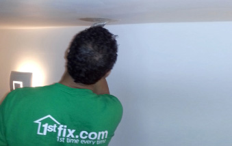 1stfix decorator filling and preparing for paint