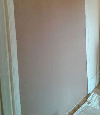 A finished 1stfix plastering job