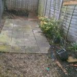 Before Garden works Tooting