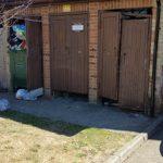 Before damaged wooden doors Streatham