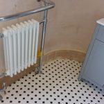 Plumbing works, new radiator, sink & bath